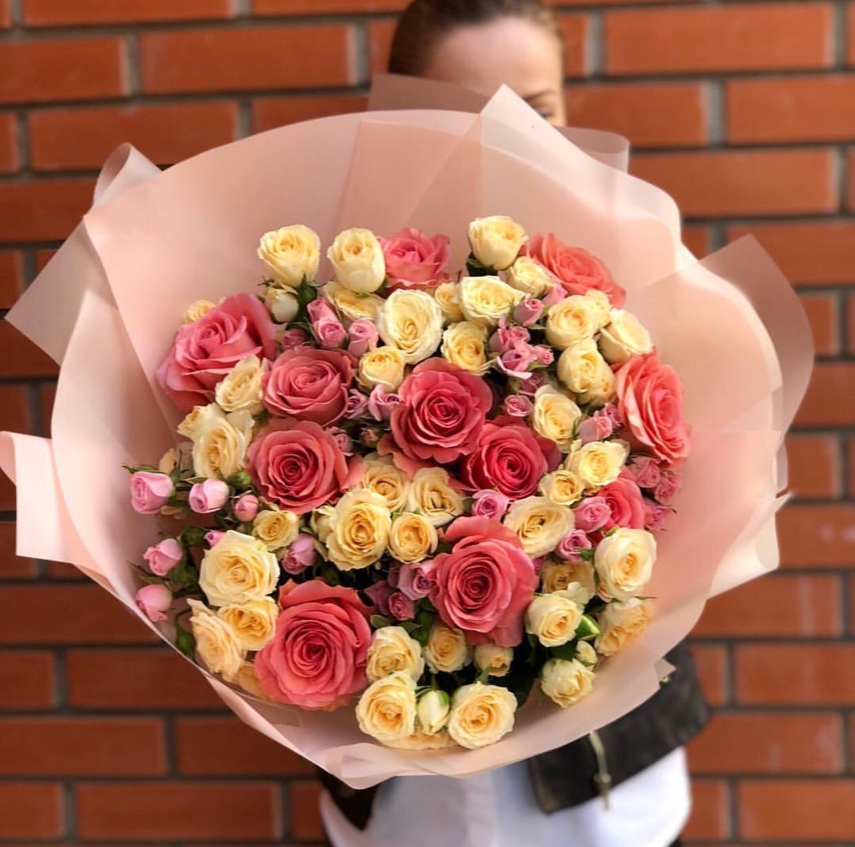 Доставка цветов собрать букетов, зимой букет